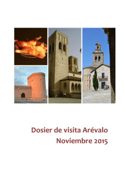 Dosier de visita Arévalo Noviembre 2015