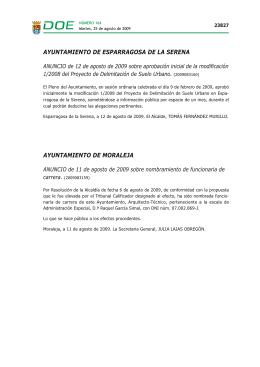 AYUNTAMIENTO DE ESPARRAGOSA DE LA SERENA