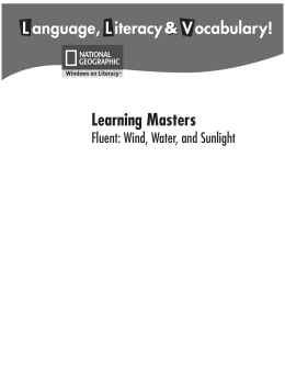 2nd ELA Learning Master-Wind Water and Sunlight