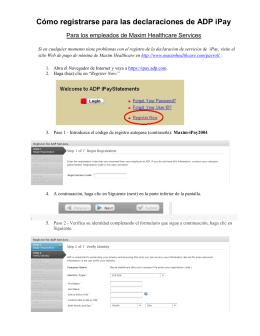 Cómo registrarse para las declaraciones de ADP iPay