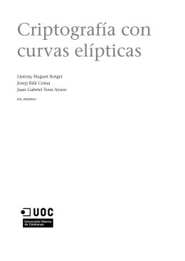 Criptografía con curvas elípticas