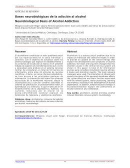 Bases neurobiológicas de la adicción al alcohol Neurobiological