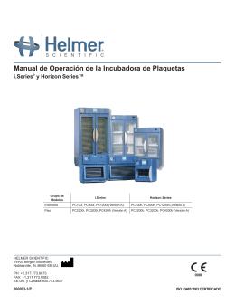 Manual de Operación de la Incubadora de Plaquetas
