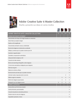 Adobe CS6 Master Collection Version Comparison for Channel