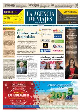 La Agencia de Viajes, La Revista, 15 de diciembre de