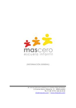 (INFORMACIÓN GENERAL) - escuela infantil cubopala