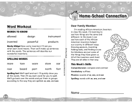Home-School Connection - Treasures - Macmillan/McGraw-Hill