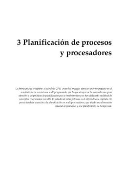 Capítulo 3: Planificación de procesos y procesadores