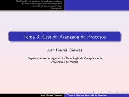 Tema 3. Gestión Avanzada de Procesos