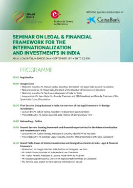 Programa seminario - Fundación Consejo España India