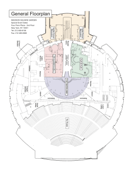 General Floorplan - Madison Square Garden