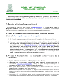 guía de inscripción - Universidad de Antioquia