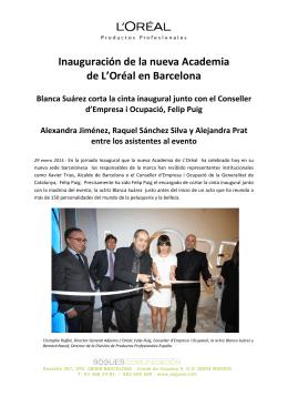 Inauguración de la nueva Academia de L`Oréal en Barcelona