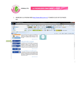 1. INGRESAR A LA PAGINA WEB http://www.bbva.com.co/ Y