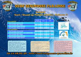 Cours collectifs* Surf Paradise découverte Surf Paradise Mini Stage