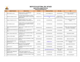 XX. Padrón de proveedores y contratistas.