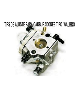 tips deajuste paracarburadores tipo walbro - Max3Design®