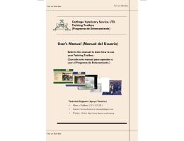User`s Manual (Manual del Usuario)