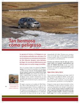 Relevamiento de Villa Pehuenia a Bariloche