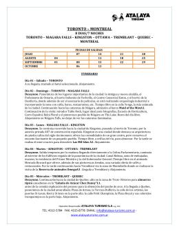 TORONTO – MONTREAL