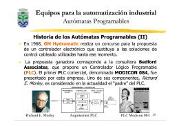 Equipos para la automatización industrial Autómatas