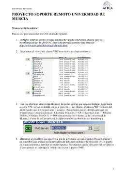 Manual para operadores - Control Remoto de la Universidad de
