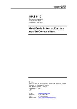 Gestión de Información para Acción Contra Minas