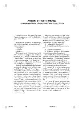 Psicosis de base somática - Alcmeón