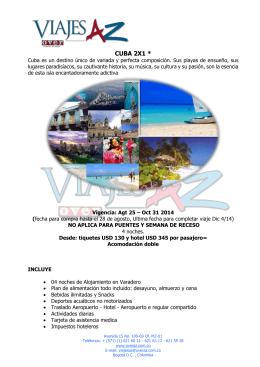 CUBA 2X1 * - Agencia de viajes
