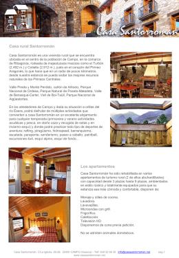 Alojamiento turismo rural casa Santorromán Campo Huesca
