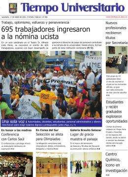 695 trabajadores ingresaron a la nómina ucista
