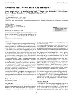 Alveolitis seca. Actualización de conceptos