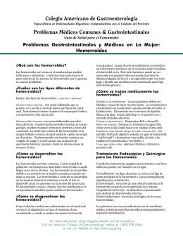 Colegio Americano de Gastroenterología Problemas