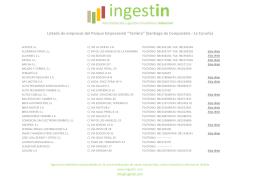 """Listado de empresas del Parque Empresarial """"Tambre"""