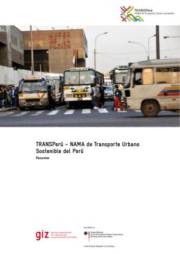 NAMA de Transporte Urbano Sostenible del Perú