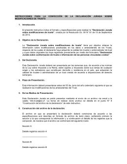 Declaración Jurada sobre Modificaciones de Trust