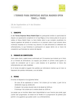 REGLAMENTO I Torneo Empresas Mutua Madrid Open