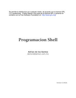 programación en Shell.