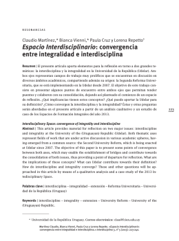 INTERdisciplina Vol. 3 No. 5, enero-abril 2015