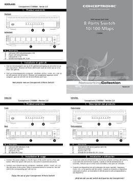 1. Product overzicht 2. Installatie en gebruik 1