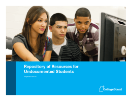 Repository of Resources for Undocumented Students