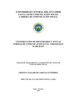 universidad central del ecuador facultad de comunicación