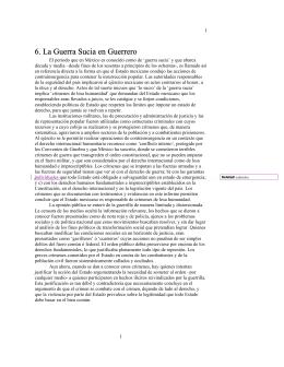 6. La Guerra Sucia en Guerrero