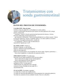 Tratamientos con sonda gastrointestinal