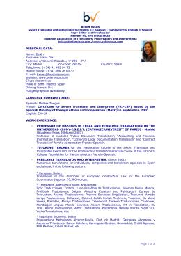 Detailed CV