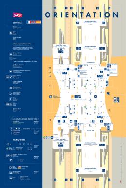 Plan de la Gare de Roissy Charles de Gaulle / CDG2