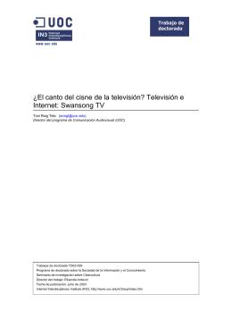 Televisión e Internet: Swansong TV