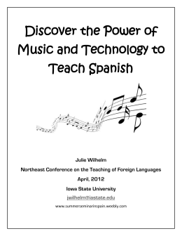Discover the Power of Music and Technology to Teach Spanish