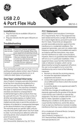 USB 2.0 4 Port Flex Hub