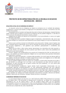 proyecto de re-estructuración de la escuela di sicuicho michoacán